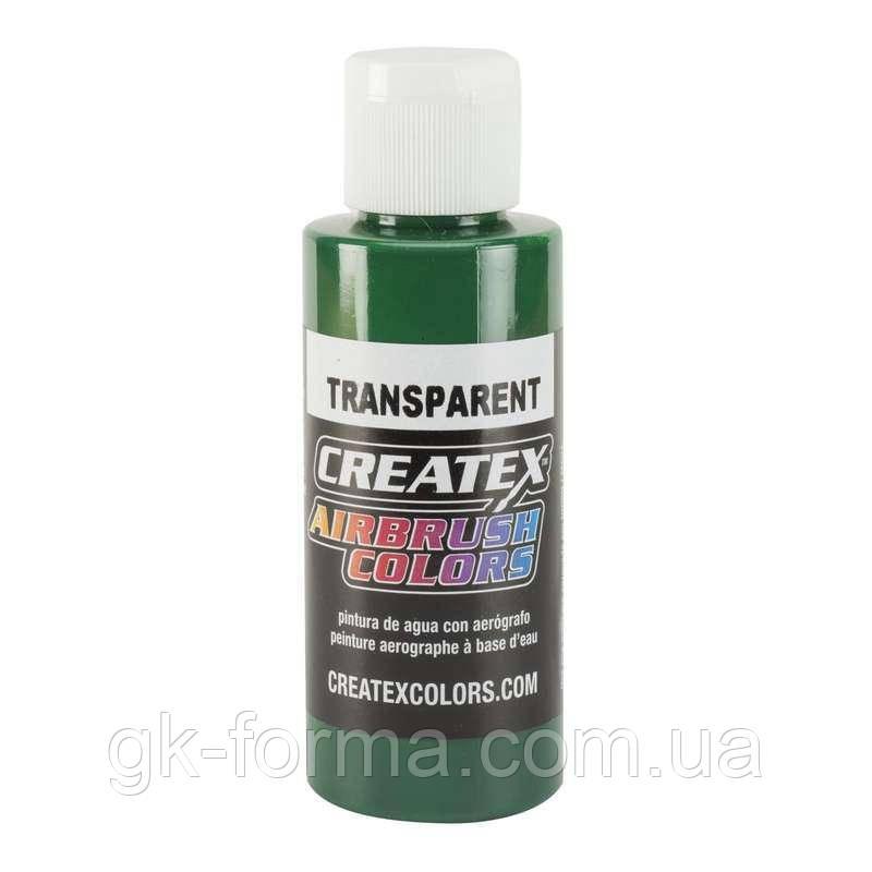 Краска акриловая ярко-зеленая для аэрографии Createx ColorsTransparent Brite Green, 60 мл