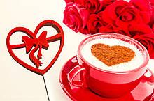 Сердца на палочках, 2 цвета красный/белый , пластиковые сердца ко дню влюбленных