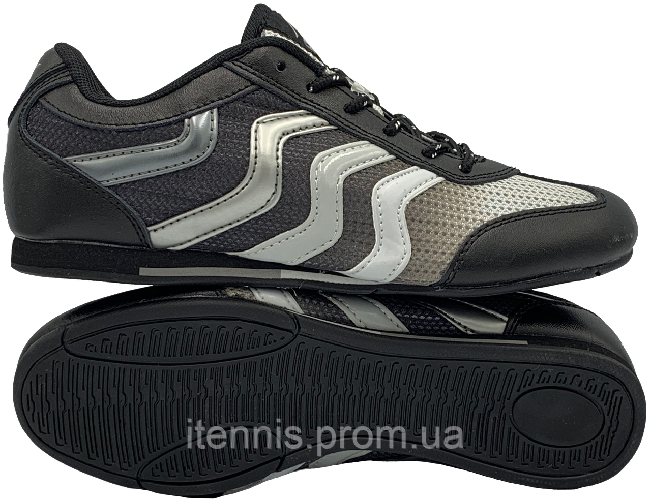 Футзалки DeMur (р. 36-41) Black-Grey