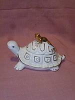 Черепаха - шкатулка фарфоровая 12 см. длина