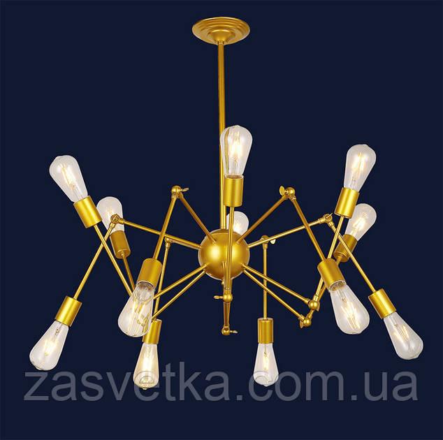 ЛЮСТРА SPIDER лофт паук 756PR9545-2 BK