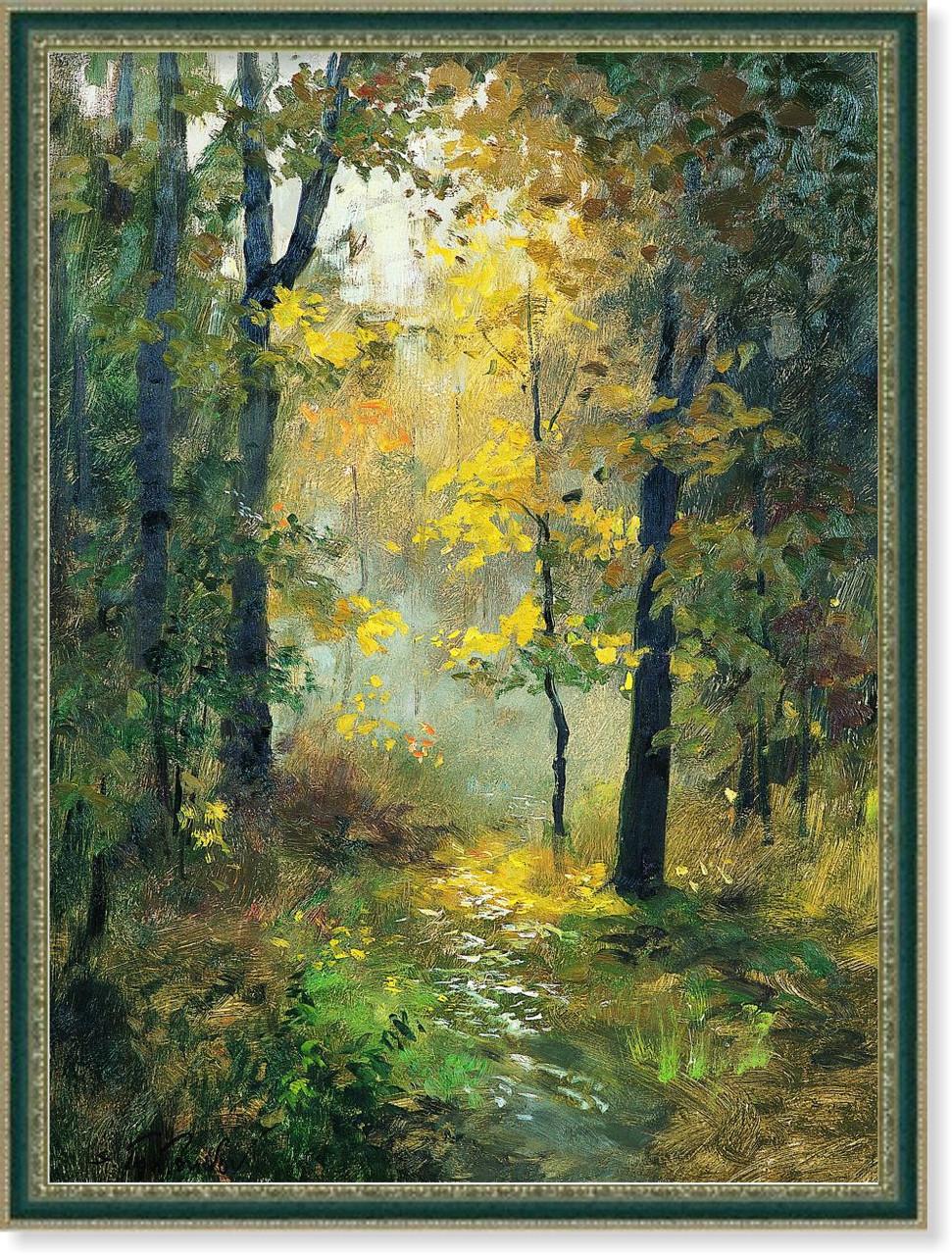 Репродукция картины современных художников «На опушке леса» 60 х 80 см