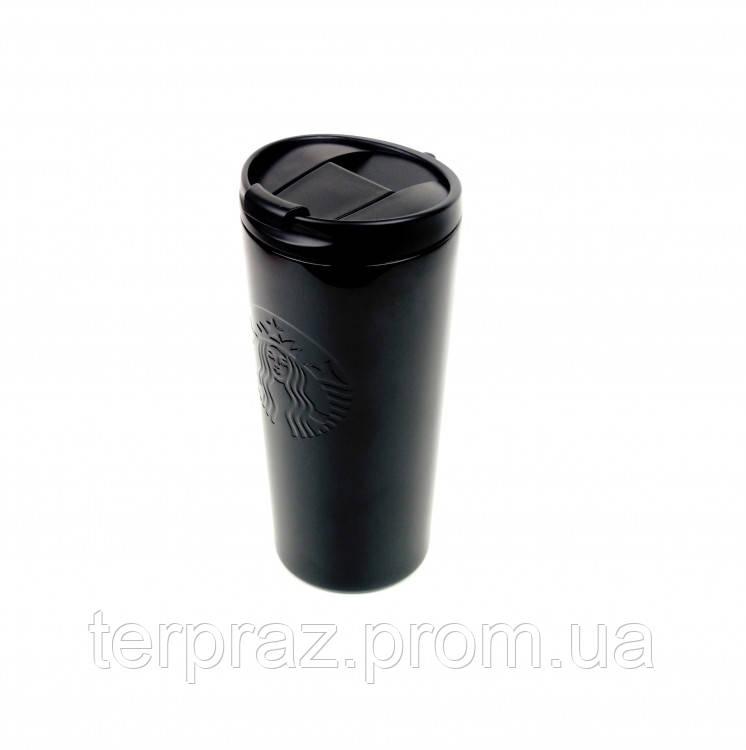 Термокружка хамелеон матовая Starbucks тамблер Black 473мл