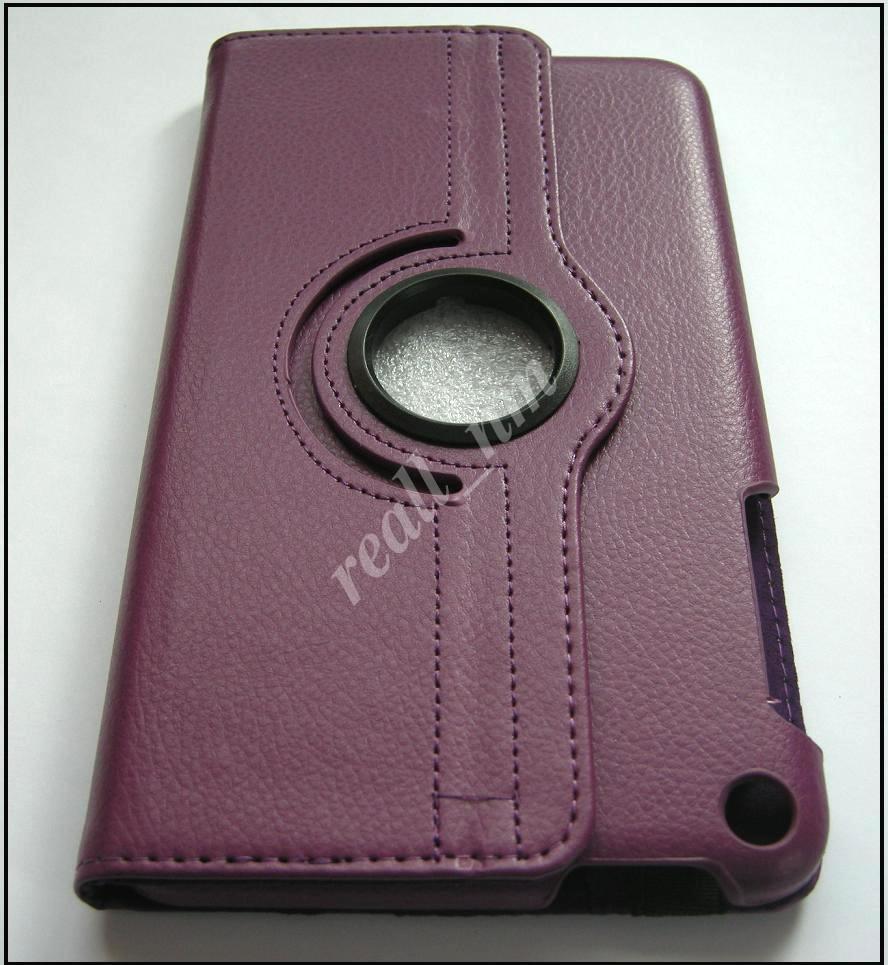 Фиолетовый кожаный вращающийся чехол для ASUS Fonepad 8 FE380CG