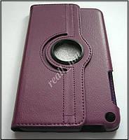 Фиолетовый кожаный вращающийся чехол для ASUS Fonepad 8 FE380CG, фото 1