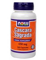 Крушина Каскара саграда 450 мг 100 капс натуральное слабительное от острых и хронических запоров Now Foods USA