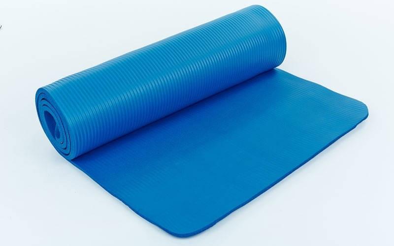 Коврик для фитнеса, каремат NBR 8мм с фиксирующей резинкой (YG-2778 )