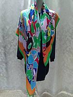 Платок шаль в стиле бренда цветной копия бренда