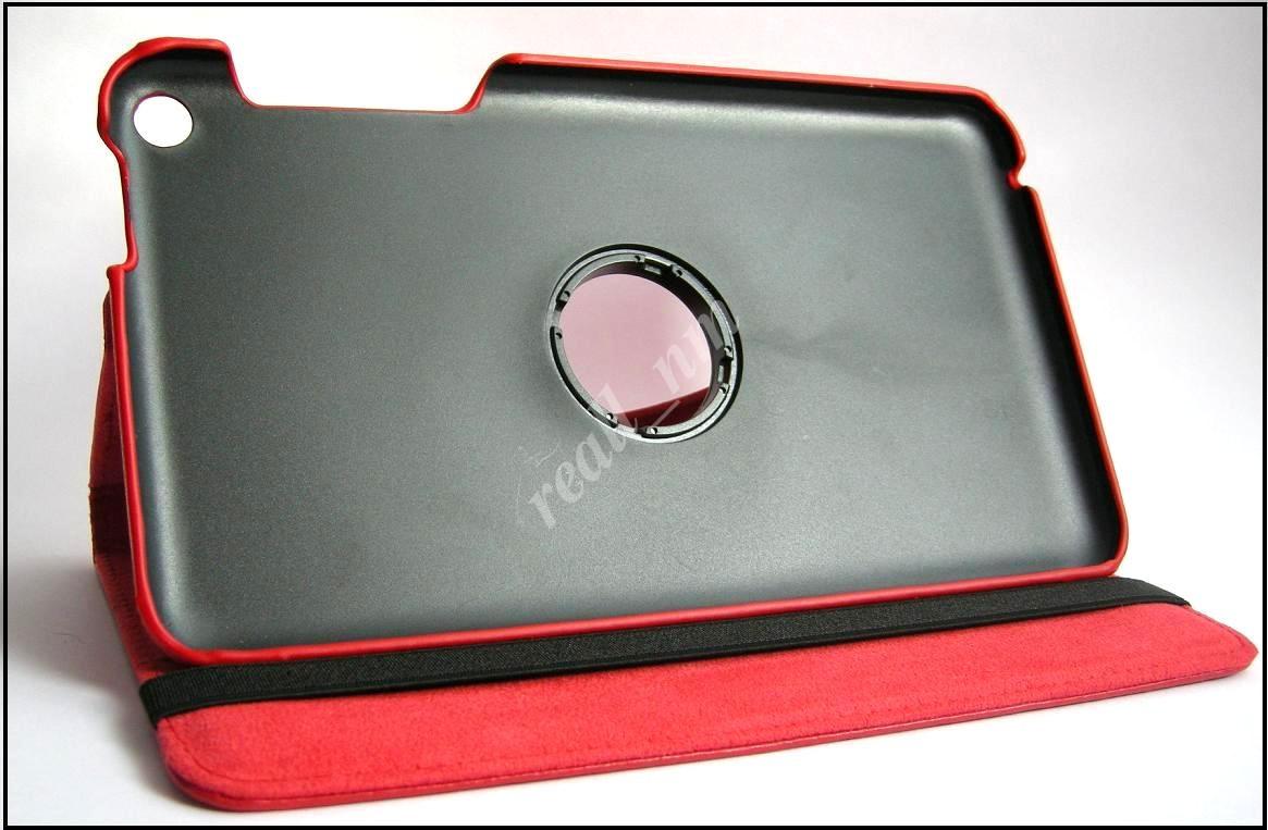 Красный вращающийся чехол для ASUS Fonepad 8 FE380CG кожа PU