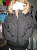 Куртка женская на двойном синтепоне капюшон с опушкой