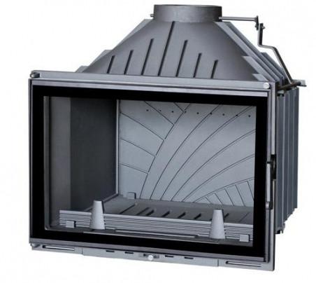 Каминная топка Termovision Vision 700 Glass Inox c шибером  (стальная рамка) 14 кВт