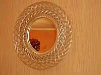 Зеркало круглое в раме из лозы №3