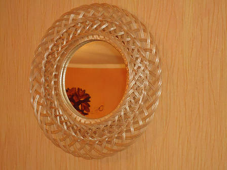 Зеркало круглое в раме из лозы №3, фото 2