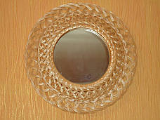Зеркало круглое в раме из лозы №3, фото 3