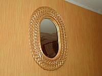 Зеркало овальное в плетеной раме из лозы №1