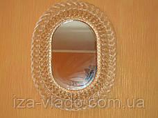 Дзеркало овальне в плетеному рамі з лози №1, фото 3