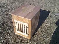 Стол клетка для собаки и щенков из натурального дерева в квартиру в дом