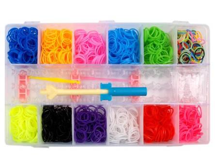 Набор Loom Bands 2200 для плетения браслетов из резинок, фото 2