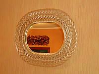 Зеркало овальное в плетеной раме из лозы №3