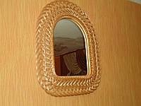 """Зеркало """"Арка"""" в плетеной раме из лозы №2"""