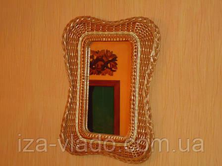 """Зеркало в плетеной раме из лозы """"Мотыль1"""", фото 2"""