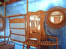 """Зеркало в плетеной раме из лозы """"Мотыль1"""", фото 3"""