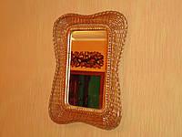 """Зеркало в плетеной раме из лозы """"Мотыль 3"""""""
