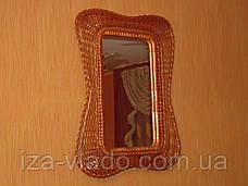 """Дзеркало в плетеному рамі з лози """"Мотиль 3"""", фото 3"""