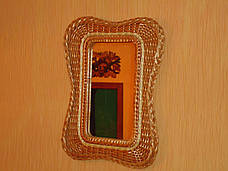 """Дзеркало в плетеному рамі з лози """"Мотиль 3"""", фото 2"""