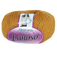 Зимняя пряжа Lanoso Alpacana Fine 910 25% альпака горчичная