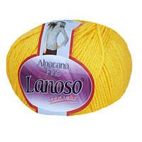 Зимняя пряжа Lanoso Alpacana Fine 914 25% альпака желтая