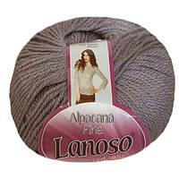 Зимняя пряжа Lanoso Alpacana Fine 942 25% альпака серо джинсовая
