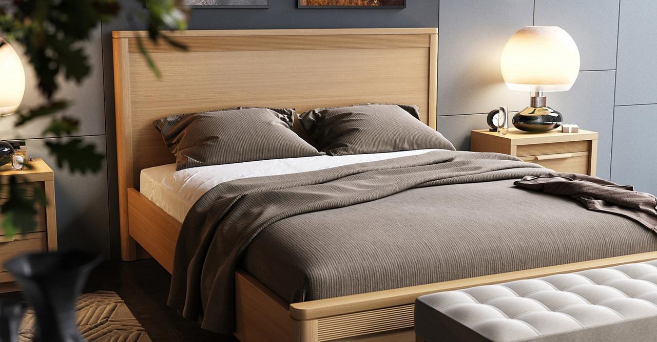 Кровать Модест 160 Прайм Мебус