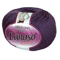 Зимняя пряжа Lanoso Alpacana Fine 944 25% альпака фиолетовая