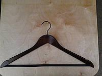 Тремпель деревянный темно-коричневый
