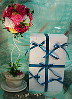 Коробка для свадебных бокалов с декором