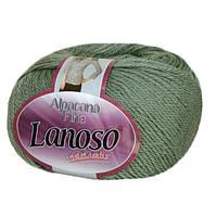 Зимняя пряжа Lanoso Alpacana Fine 953 25% альпака светлая оливка