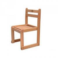 Детский стульчик из натурального дерева БУК 26 см