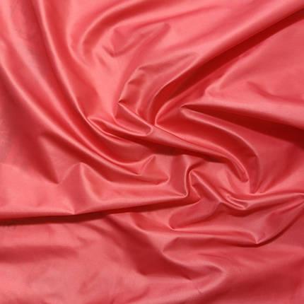 Плащевая ткань лаке коралловая, фото 2