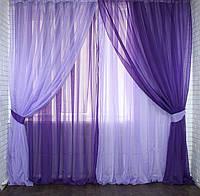"""Шифоновый комплект """"Настроение Инь Янь"""" фиолетовый с сиреневым"""