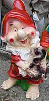 Фигурка Гном с собачкой 50 см.