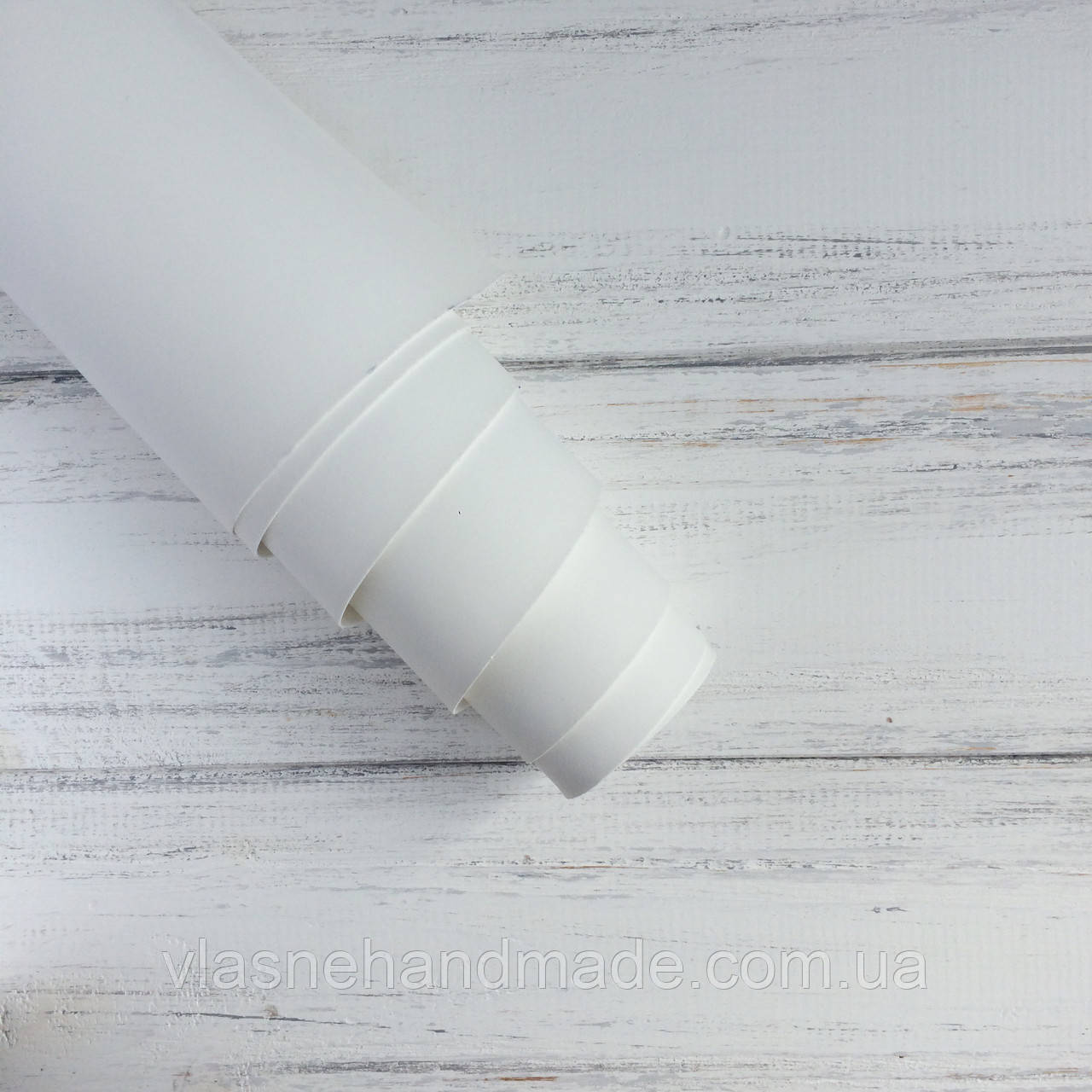 НЕФОРМАТ АБО НЕВЕЛИКИЙ БРАК!! Шкірзамінник палітурний - матовий - білий - виробник Італія - 25х30 см