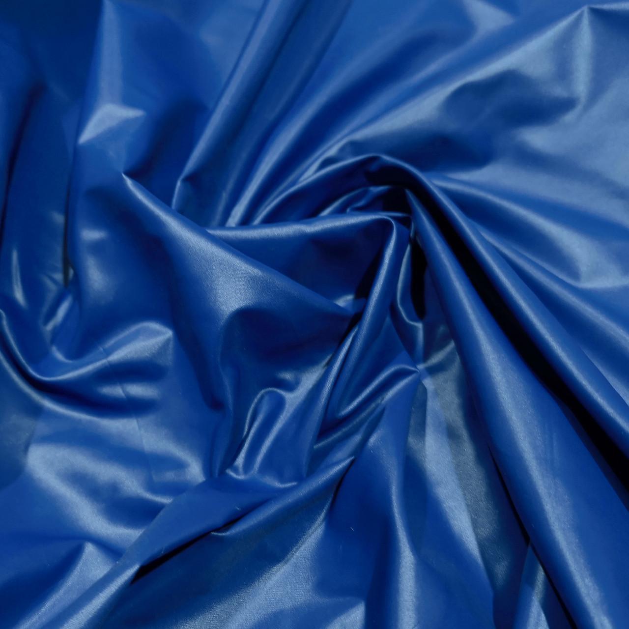 Плащевая ткань лаке синий электрик