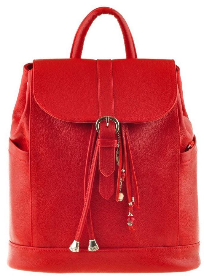 c5aa8c478c85 Женский кожаный красный рюкзак BlankNote «Олсен рубин» - Arion-store -  кожгалантерея и