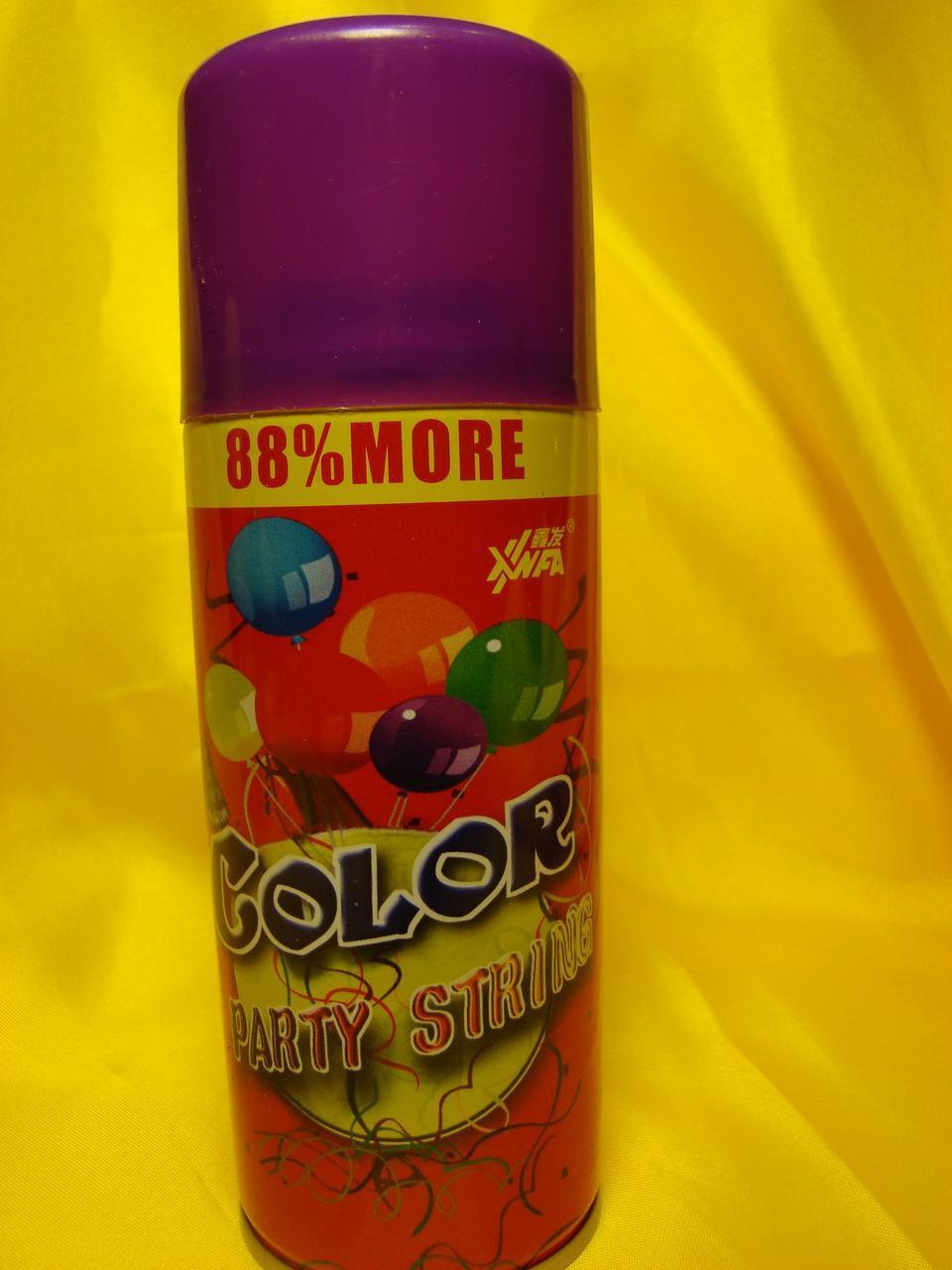Серпантин   кольоровий   у балончику . Колір Фіолнтовий