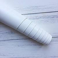 НЕФОРМАТ АБО НЕВЕЛИКИЙ БРАК!! Шкірзамінник палітурний - глянець - білий - виробник Італія - 20х140 см