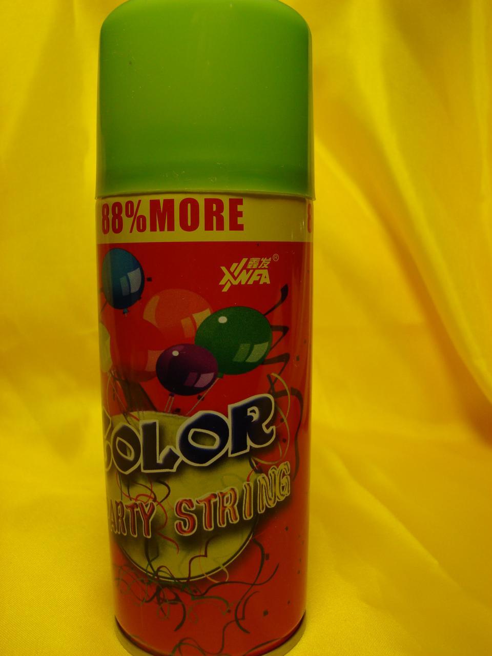 Серпантин   кольоровий   у балончику . Колір Зелений
