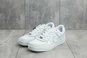 Мужские демисезонные кроссовки Nike Air Force белые топ реплика, фото 2