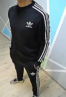 Зимний спортивный мужской костюм Adidas утепленный. Живое фото. реплика
