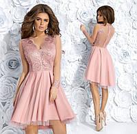 0520ea52298 Платье вечернее красивое каскад гипюр+габардин+сетка 42